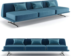 3D model Baleri Italia Trays three seating sofa