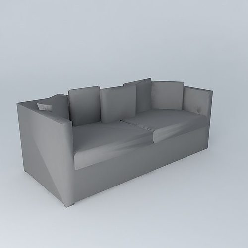 Sofa anthracite 4places trocadero houses the world 3d model max obj 3ds fbx stl dae - Sofa antraciet ...