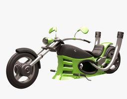 Chopper 003 Green CARBON 3D model