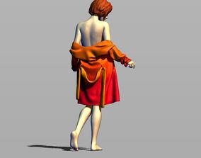 3D printable model Girl in bathrobe
