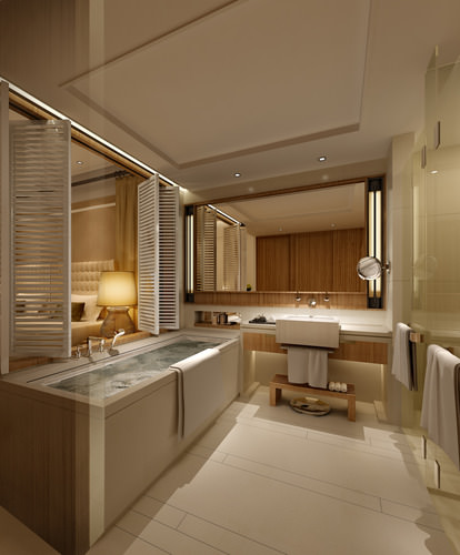 3d photo real hotel room cgtrader for Bathroom models photos