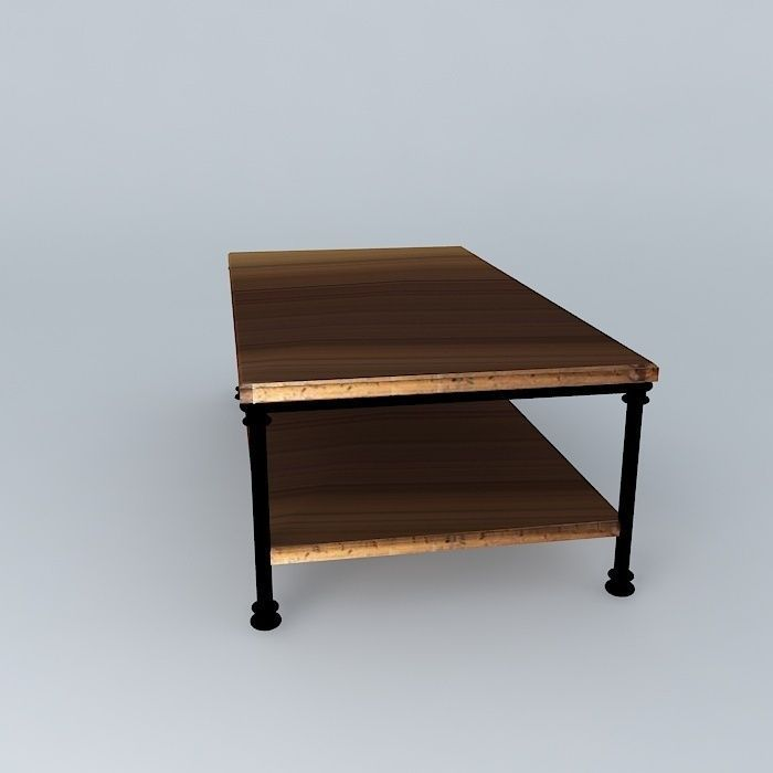 coffee table fontainebleau maisons du monde 3d model max. Black Bedroom Furniture Sets. Home Design Ideas