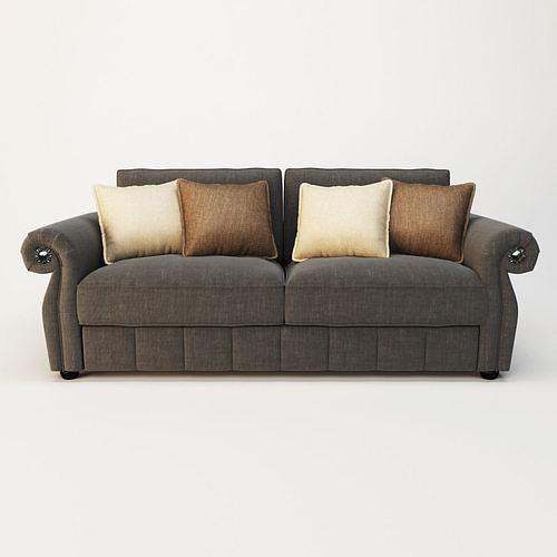 sofa fashion flora 3d model max obj mtl 3ds fbx stl 1