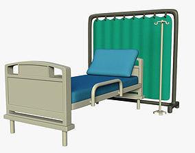 3D model realtime Hospital bed