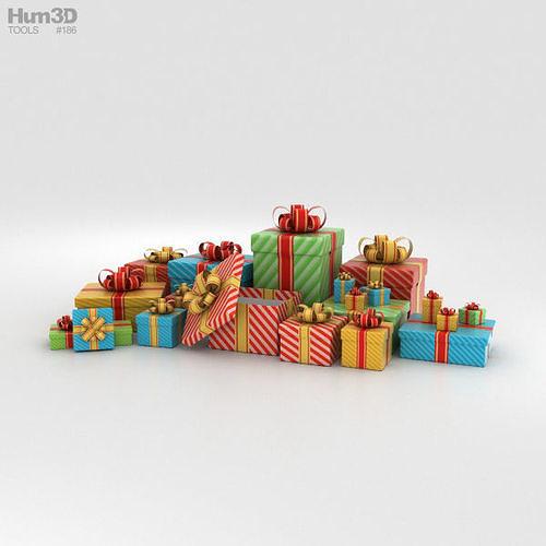 gift boxes 3d model max obj mtl 3ds fbx c4d lwo lw lws 1