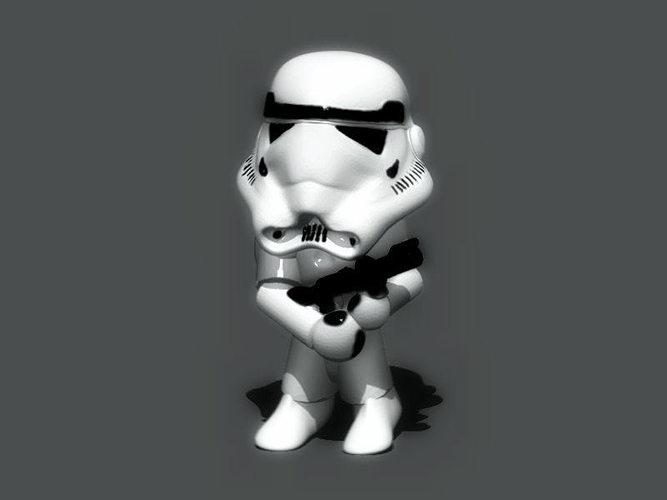 mini trooper 3d model stl wrl wrz 1