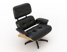3D Eames Lounge Chair black