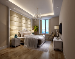 romantic bedroom photo real 3D Model