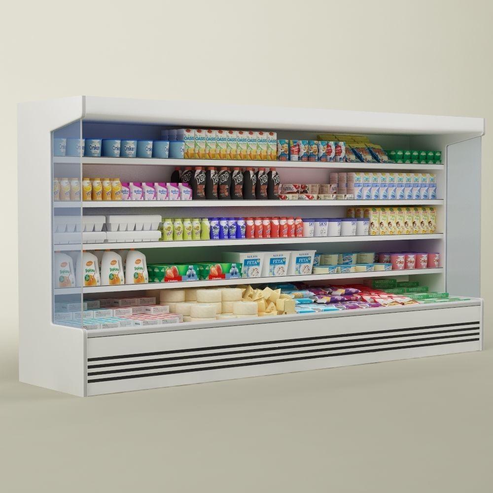 Store display refrigerator freezer 02