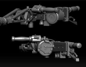 3D printable model M56 Smart Gun Digital Files Pre-Cut 3