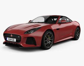 3D model Jaguar F-Type SVR Convertible 2017