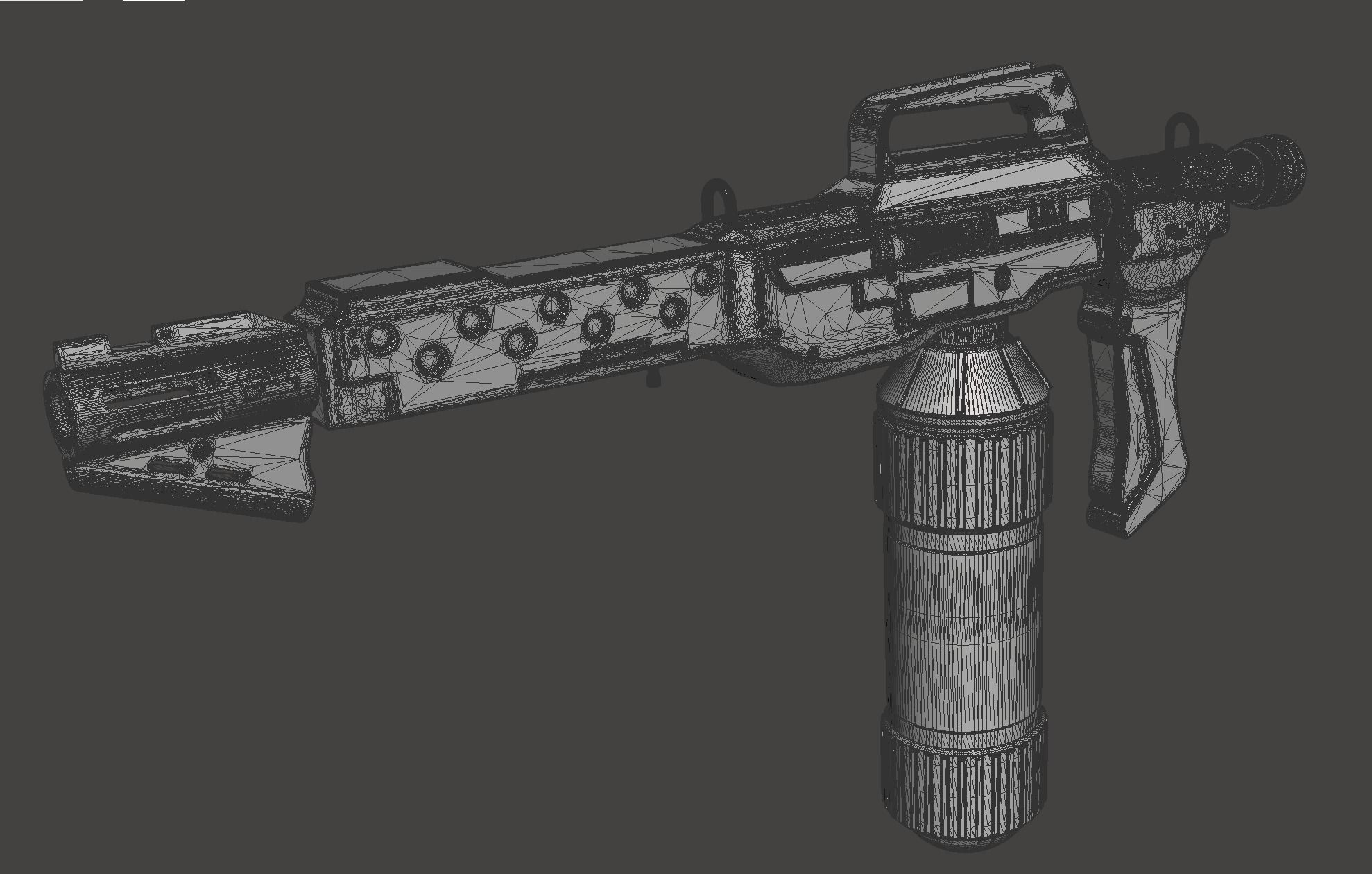 M240 Flamethrower With Custom Wall Mount with Finishing Guide