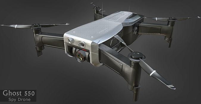 spy drone  3d model max obj mtl fbx stl 1