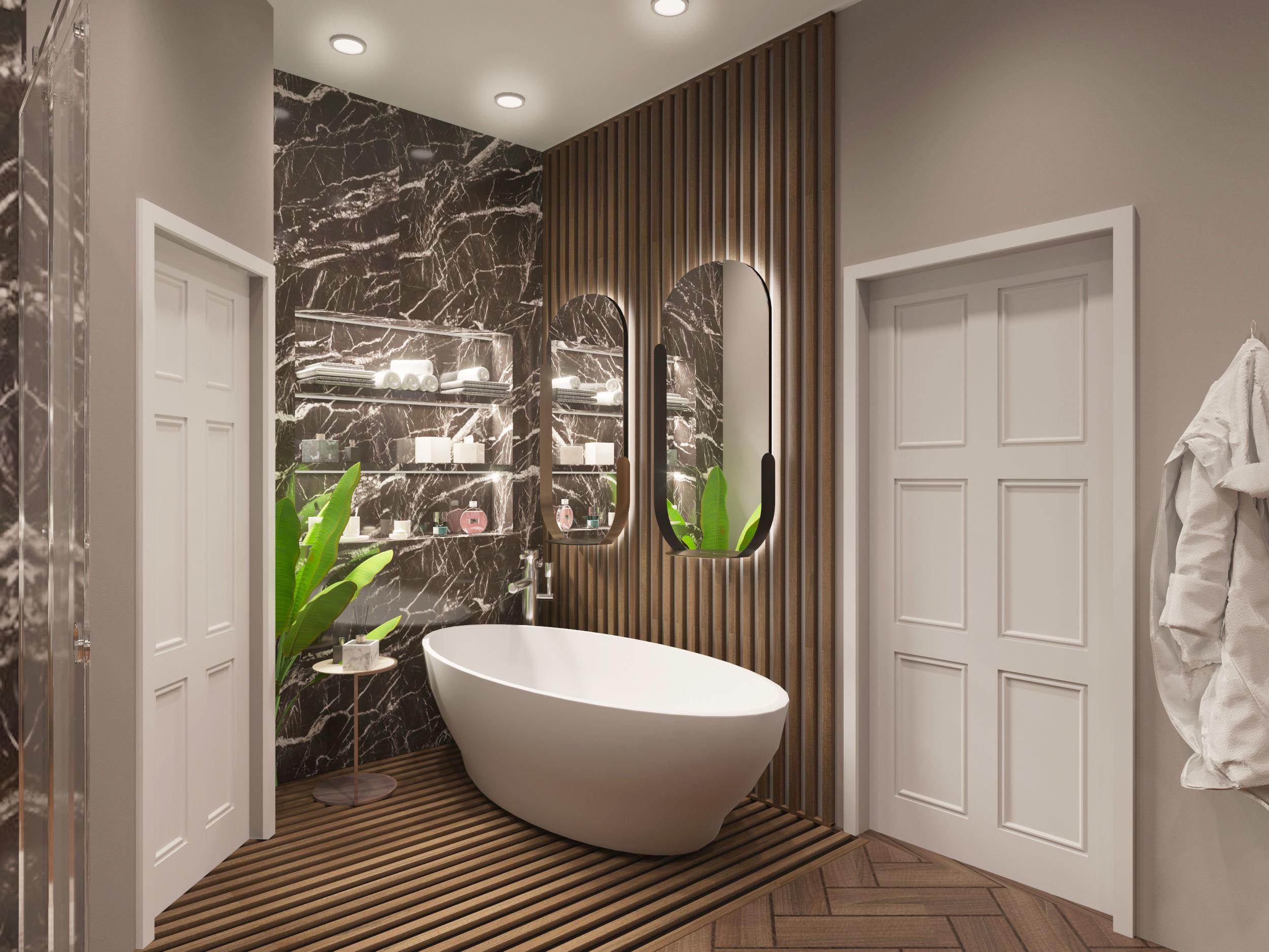 3D Bathroom model with sanitary ware - Corona materials on Bathroom Model  id=59243