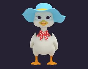 3D Asset - Cartoons - Animals - Duck - Hight poly