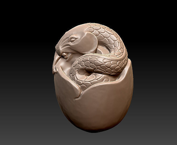 little snake 3d model obj mtl stl 1