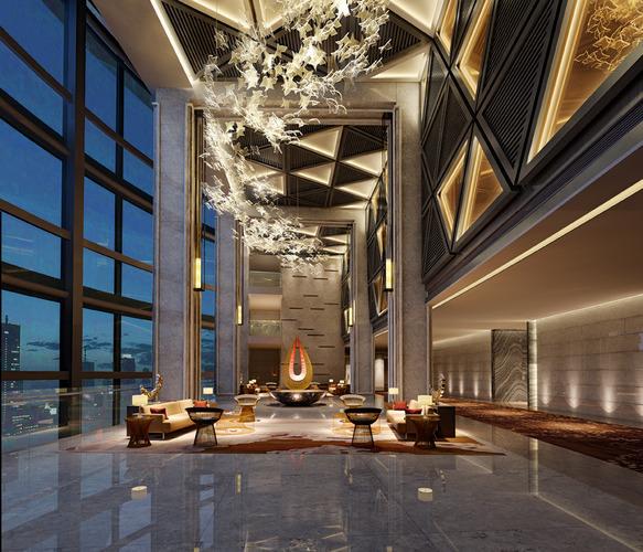 3d Skyscraper Hotel Lobby Cgtrader