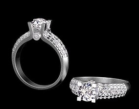 engagement ring silver 3D printable model