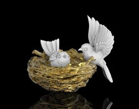 birds in the nest 3D print model