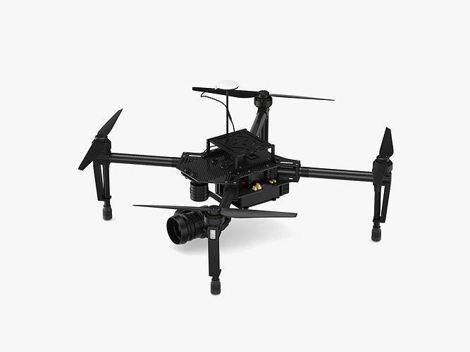 dji matrice 100 quadcopter 3d model max obj mtl 3ds fbx c4d ma mb 1