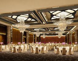 3D model photo real wedding hall