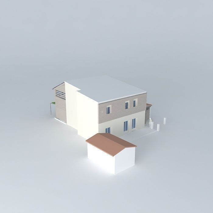 3D Model Extention Housing In Town