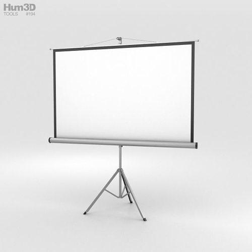 projector screen 3d model max obj mtl 3ds fbx c4d lwo lw lws 1