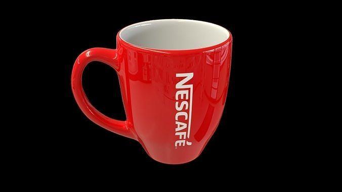 coffee mug 3d model obj mtl fbx blend 1