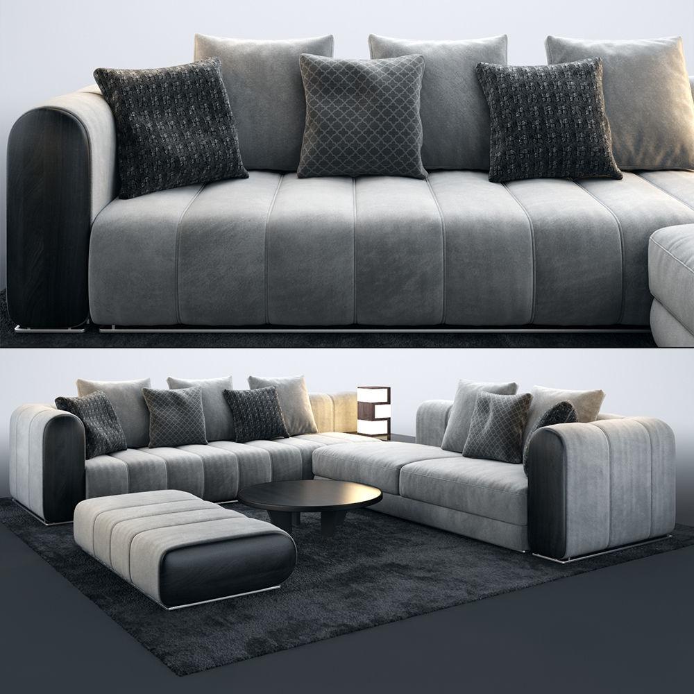 Mnoxet Modern Design Sofa Set | 3D model