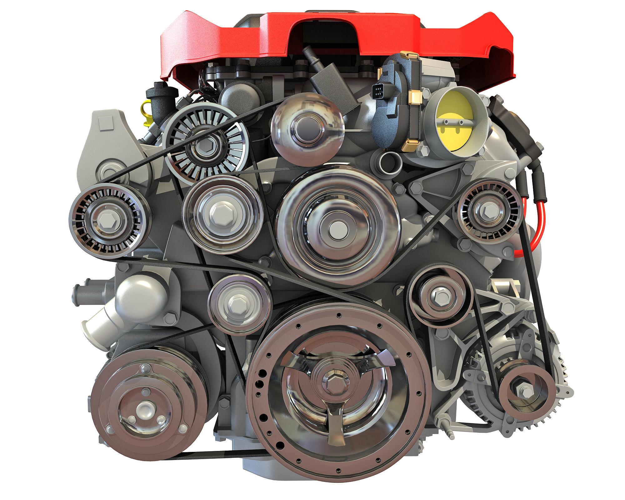 V8 Supercharged Engine