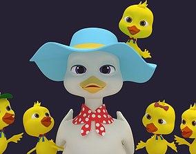 3D model Asset - Cartoons - Character - Duck - Hight Poly