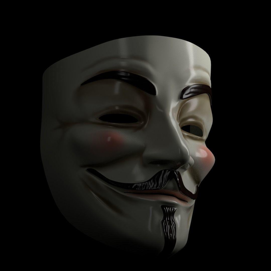 3d V For Vendetta Mask Cgtrader