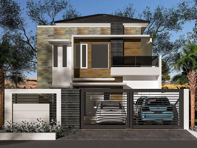 house 10 x 15 3d model max mat 1