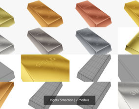 Ingots collection 3D model