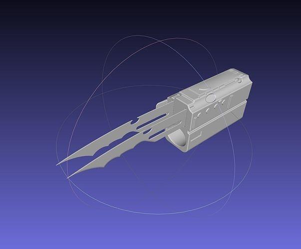 predator wrist blade weapon model 3d model obj mtl 3ds dxf stl sldprt sldasm slddrw ige igs iges 1