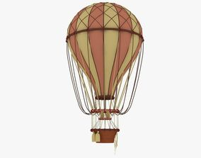 air balloon 3D asset game-ready