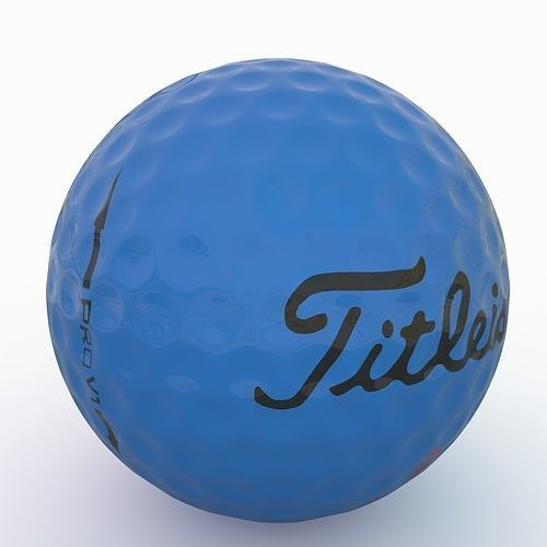 gilf ball blue 3d model low-poly max fbx 1