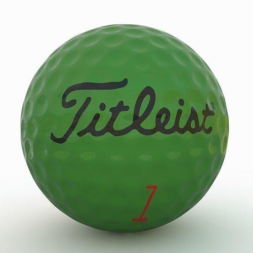 gilf ball green 3d model low-poly max obj mtl fbx 1