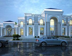 3D Classic Exterior Evening Design