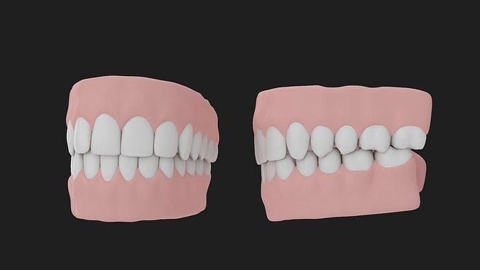 teeth 3d model max obj mtl 3ds fbx ma mb 1