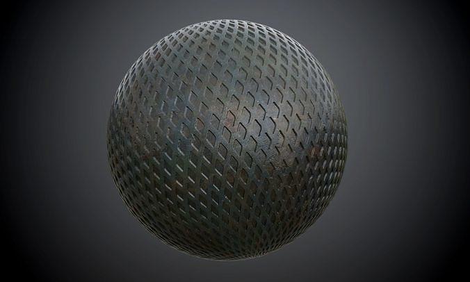 metal army plate diamond seamless pbr texture 3d model obj mtl 1