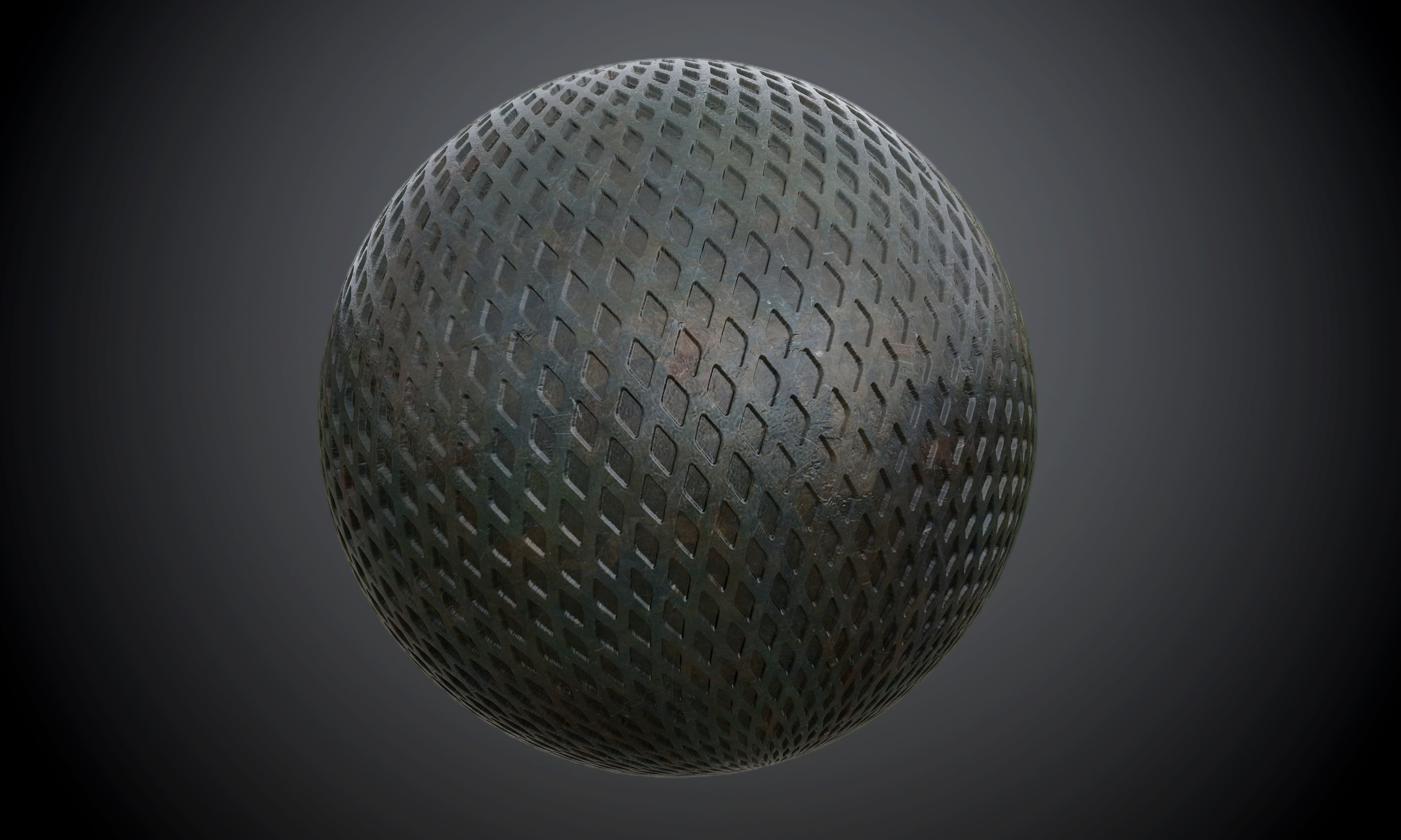 Metal Army Plate Diamond Seamless PBR Texture