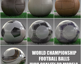 3D model World Championship Football Balls