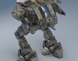 battle mech object26 3d animated