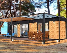 mobile home tiny house vacation house 3dmodel realtime