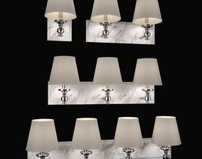 3D model Vanity lights by FEISS white carrara