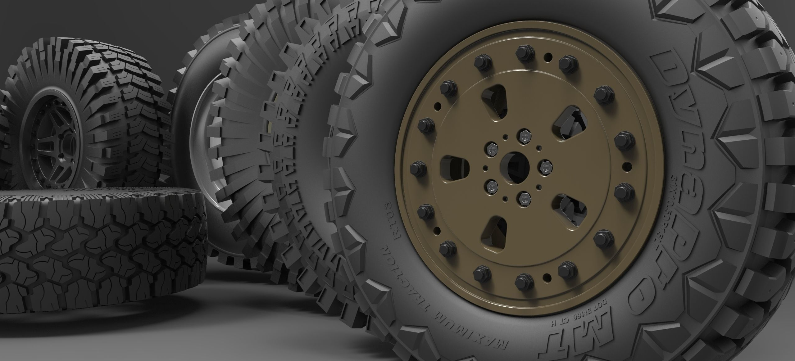 Offroad wheel 3D CAD Library | 3D model
