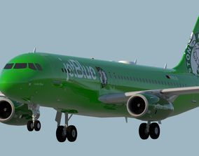 3D JETBLUE AIRWAYS A320 CELTICS BOSTON