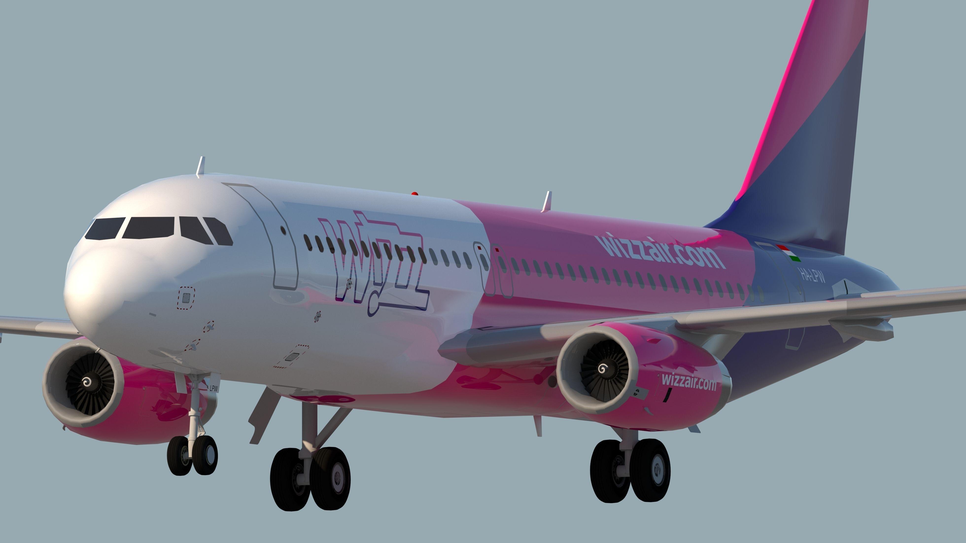 3d Wizz Air A320 Cgtrader
