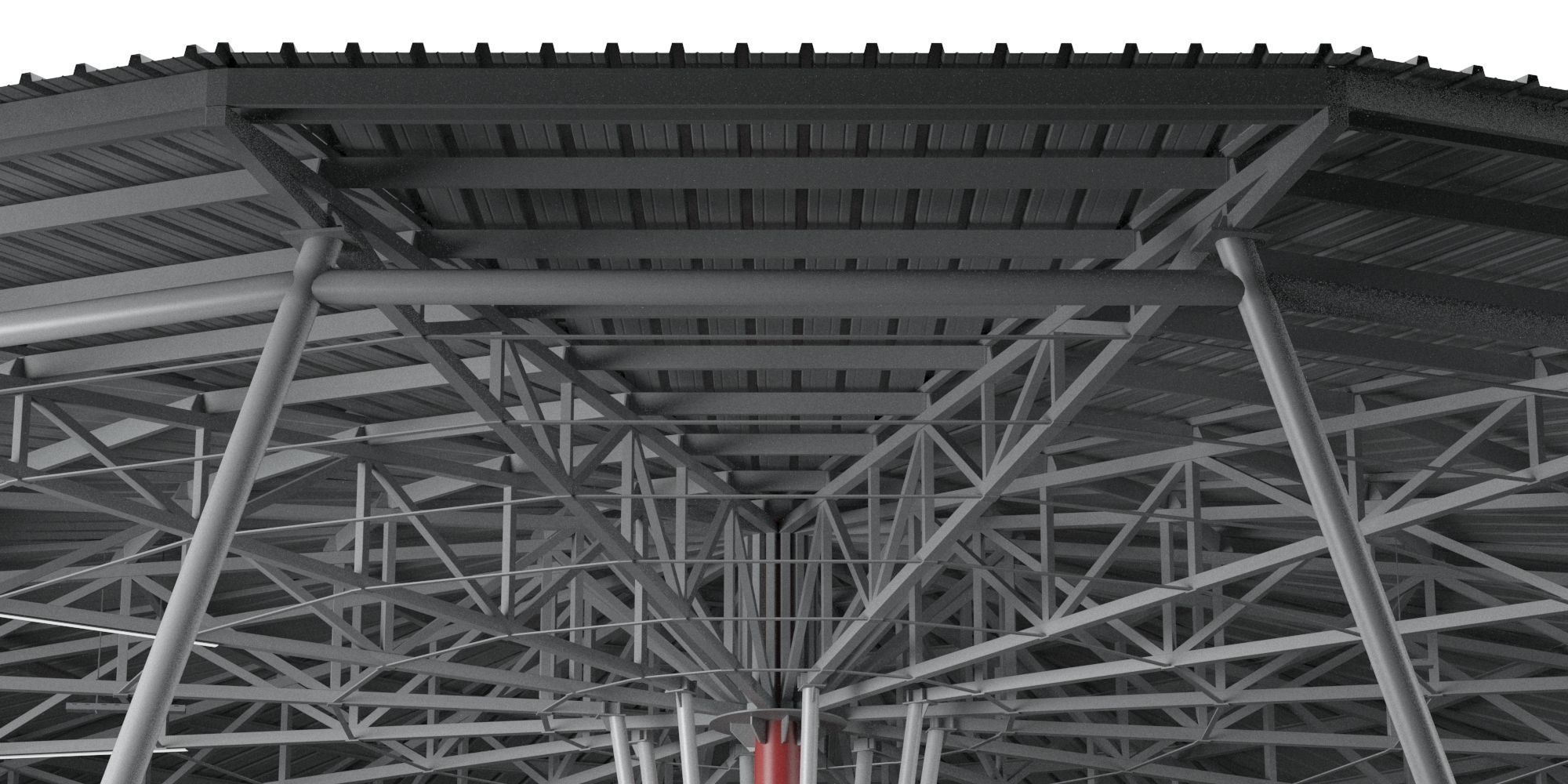 Metal Roof Construction 3d Cgtrader